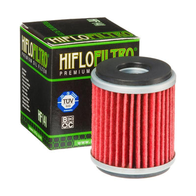 A HF141 Premium Hiflo Filtro oil filter for sale. This filter fits a variety of Yamaha dirtbikes and ATV's. Our online catalog has more new and used parts that will fit your unit!