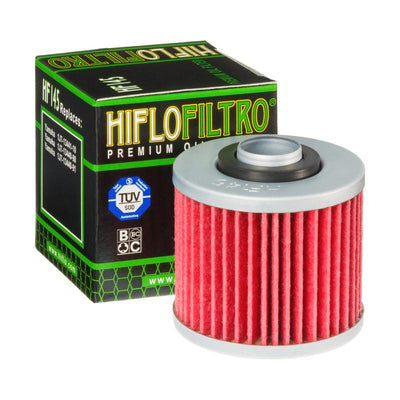 A HF145 Premium Hiflo Filtro oil filter for sale. This filter fits a variety of Yamaha dirtbikes and ATV's. Our online catalog has more new and used parts that will fit your unit!