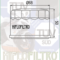 A HF147 Premium Hiflo Filtro oil filter for sale. This filter fits a variety of Yamaha ATV's. Our online catalog has more new and used parts that will fit your unit!