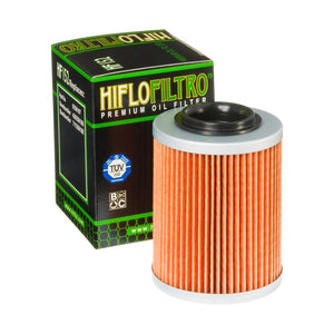 A HF152 Premium Hiflo Filtro oil filter for sale. This filter fits a variety of Can Am ATV's. Our online catalog has more new and used parts that will fit your unit!