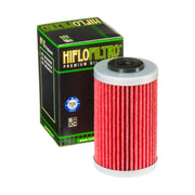 A HF155 Premium Hiflo Filtro oil filter for sale. This filter fits a variety of Polaris ATV's and KTM dirtbikes. Our online catalog has more new and used parts that will fit your unit!