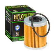 A HF157 Premium Hiflo Filtro oil filter for sale. This filter fits a variety of KTM dirtbikes. Our online catalog has more new and used parts that will fit your unit!