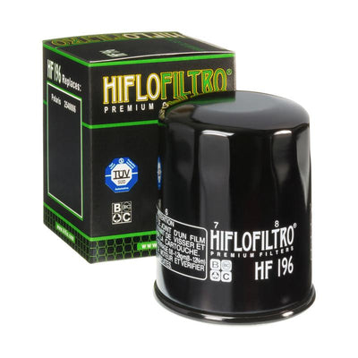 A HF196 Premium Hiflo Filtro oil filter for sale. This filter fits a variety of Polaris ATV's and UTV's. Our online catalog has more new and used parts that will fit your unit!