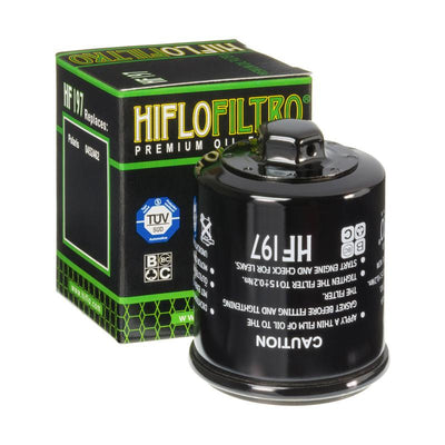 A HF197 Premium Hiflo Filtro oil filter for sale. This filter fits a variety of Polaris ATV's. Our online catalog has more new and used parts that will fit your unit!