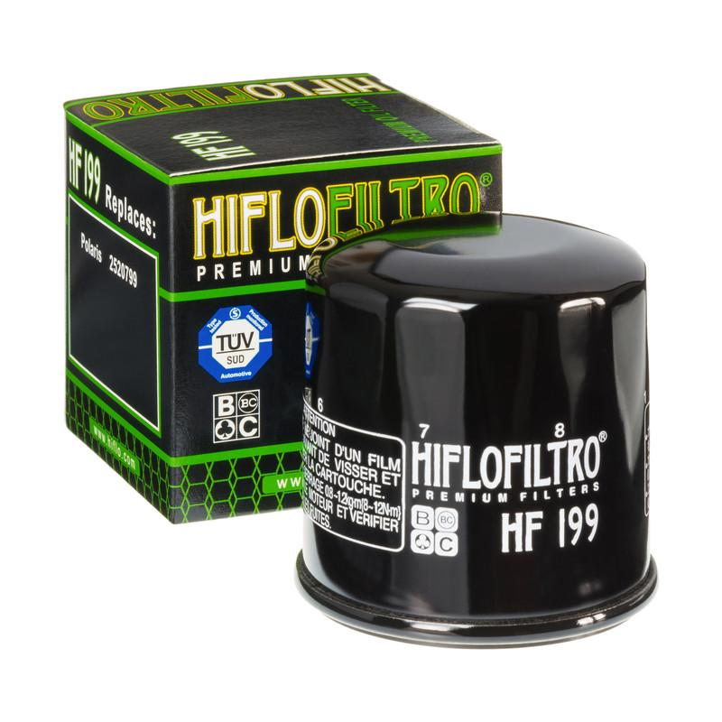 A HF199 Premium Hiflo Filtro oil filter for sale. This filter fits a variety of Polaris ATV's and UTV's. Our online catalog has more new and used parts that will fit your unit!