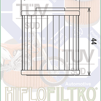 A HF207 Premium Hiflo Filtro oil filter for sale. This filter fits a variety of Kawasaki and Suzuki dirtbikes. Our online catalog has more new and used parts that will fit your unit!
