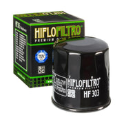 A HF303 Premium Hiflo Filtro oil filter for sale. This filter fits a variety of Kawasaki, Polaris, Yamaha ATV's and UTV's. Our online catalog has more new and used parts that will fit your unit!