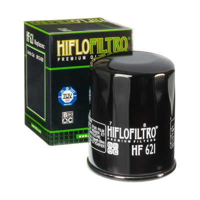 A HF621 Premium Hiflo Filtro oil filter for sale. This filter fits a variety of Arctic Cat ATV's and UTV's. Our online catalog has more new and used parts that will fit your unit!