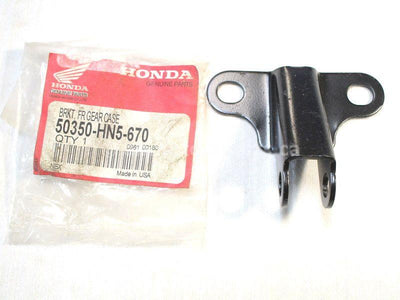 A new Front Differential Bracket for a 2005 TRX 400FGA Honda OEM Part # 50350-HN5-670 for sale. ATV parts online? Oh, Yes! Find parts that fit your unit here!