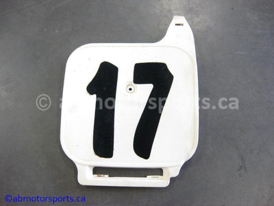 Used Honda Dirt Bike XR 80R OEM Part # 61136-GN1-000ZB OR 61136-GN1-000ZE OR 61136GN1000ZB OR 61136GN1000ZE FRONT PLATE for sale