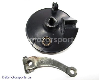 Used Honda Dirt Bike XR 80R OEM Part # 45100-GN1-760ZA OR 45100GN1760ZA BRAKE PANEL FRONT for sale