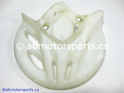 Used Honda Dirt Bike CRF 450R OEM part # 51614-KZ4-J41ZA front disc brake cover for sale