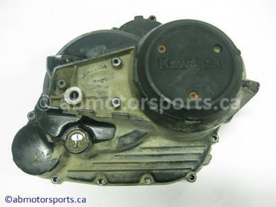 Used Kawasaki ATV KLF 300A OEM part # 14032-1197 clutch cover for sale