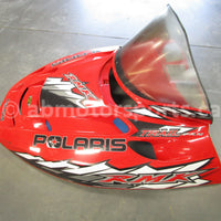 Used Polaris Snowmobile TRAIL RMK OEM part # 2632783-293 hood for sale