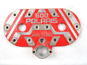 A used Cylinder Head Cover from a 2000 RMK 600 Polaris OEM Part # 5631008-093 for sale. Check out Polaris snowmobile parts in our online catalog!