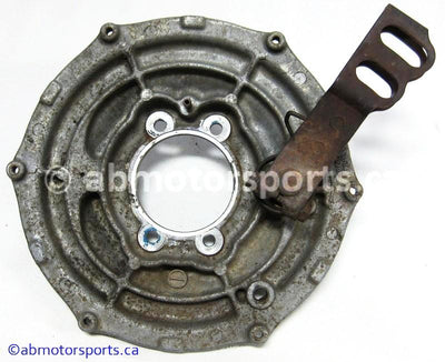 Used Suzuki ATV Eiger 400 OEM part # 64210-38F00 brake plate rear for sale