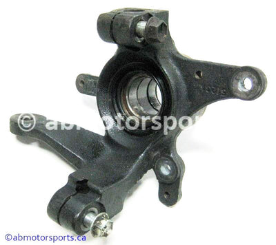 Used Suzuki ATV Eiger 400 OEM part # 51231-38F50 front right steering knuckle for sale