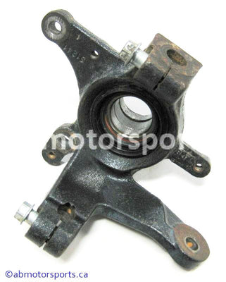 Used Suzuki ATV Eiger 400 OEM part # 51241-38F50 front left steering knuckle for sale