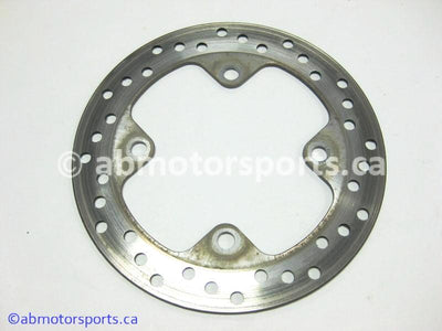 Used Yamaha ATV GRIZZLY 700 OEM part # 3B4-2582V-00-00 rear brake disc for sale
