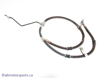 Used Yamaha ATV KODIAK 400 OEM part # 1D9-F5873-01-00 front brake hose for sale