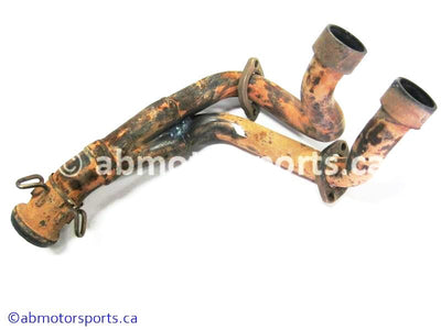 Used Yamaha UTV RHINO 700 FI OEM part # 5B4-E4611-00-00 exhaust pipe for sale