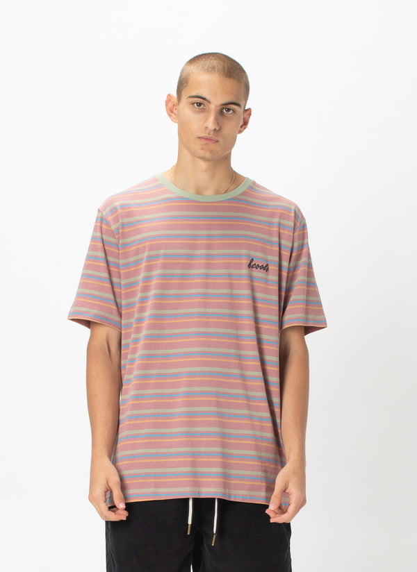 B.Cools Embro Tee Rose Stripe