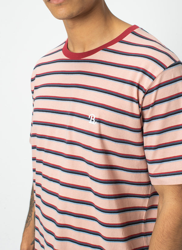 B.Schooled Tee Peach Stripe - Sale