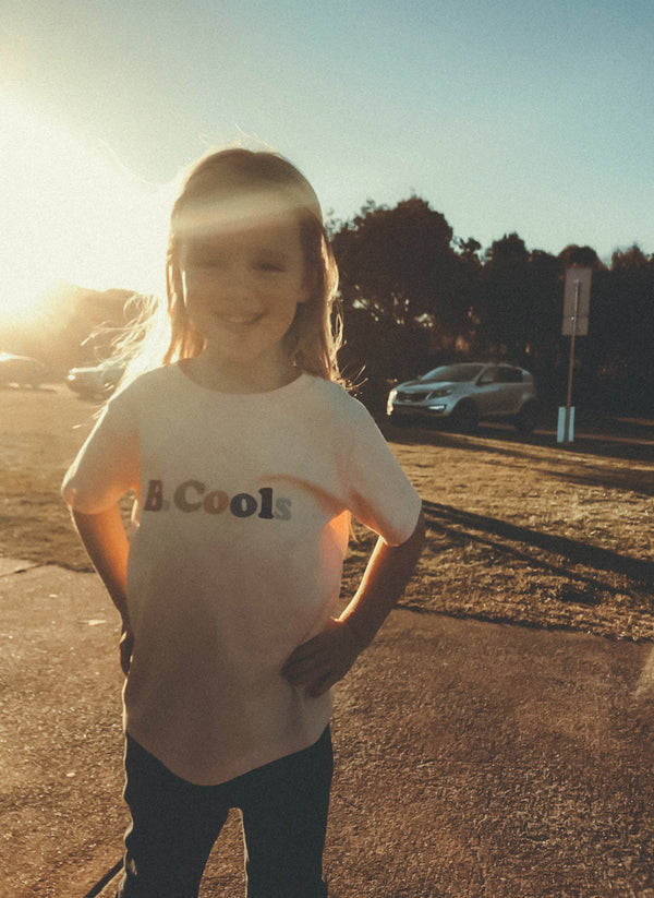 B.Cools Retro Kids Tee White