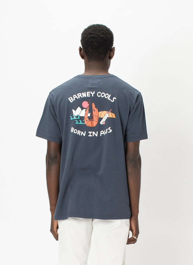 Born In Aus Tee Navy