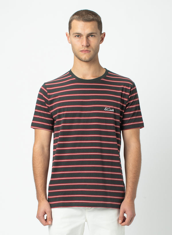 B.Cools Embro Tee Black Stripe - Sale