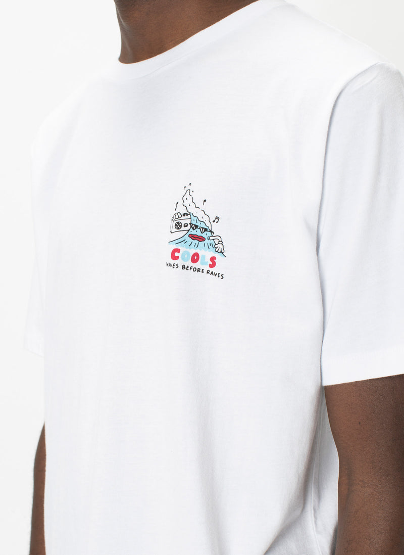 Waves Before Raves Tee White