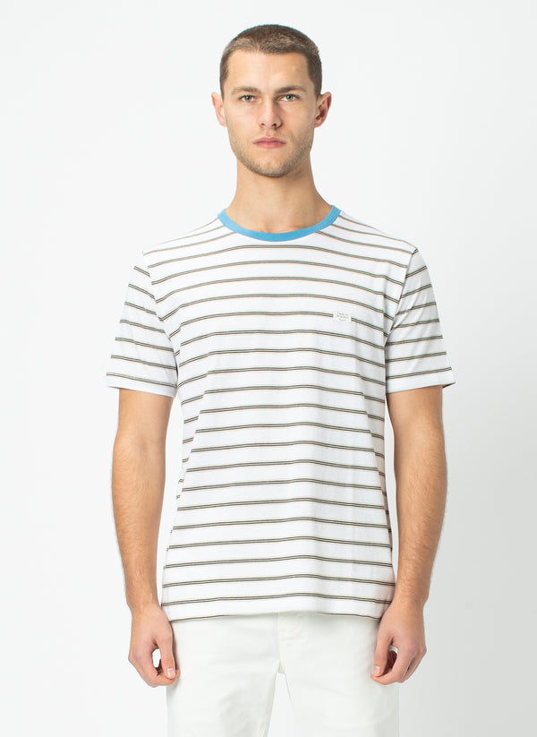 B.Thankful Tee White Stripe - Sale