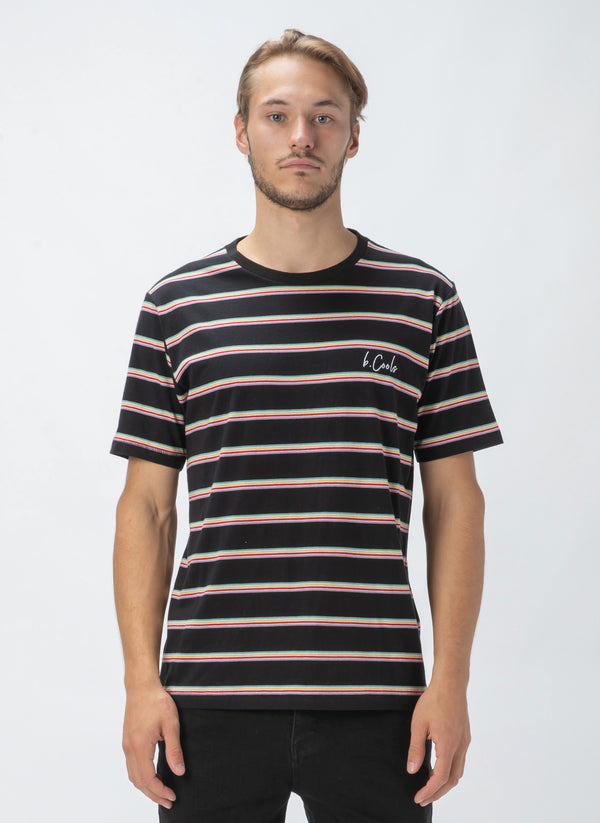 B.Cools Script Tee Black Stripe - Sale