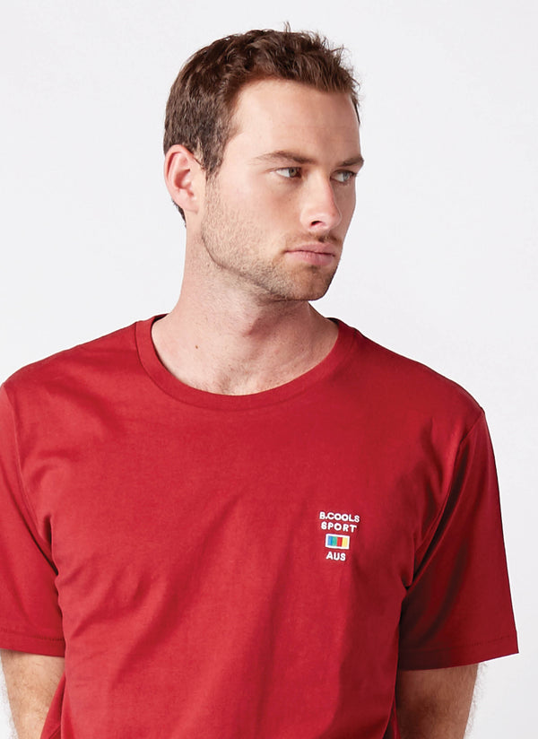 Cools Sports Homie Tee Dull Red - Sale