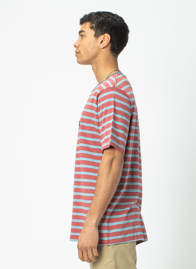 B.Thankful Tee Rust Stripe