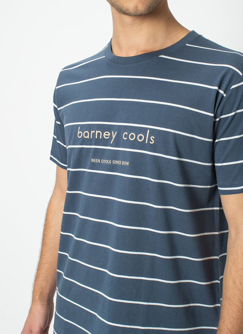 Barney Cools Tee Navy Stripe