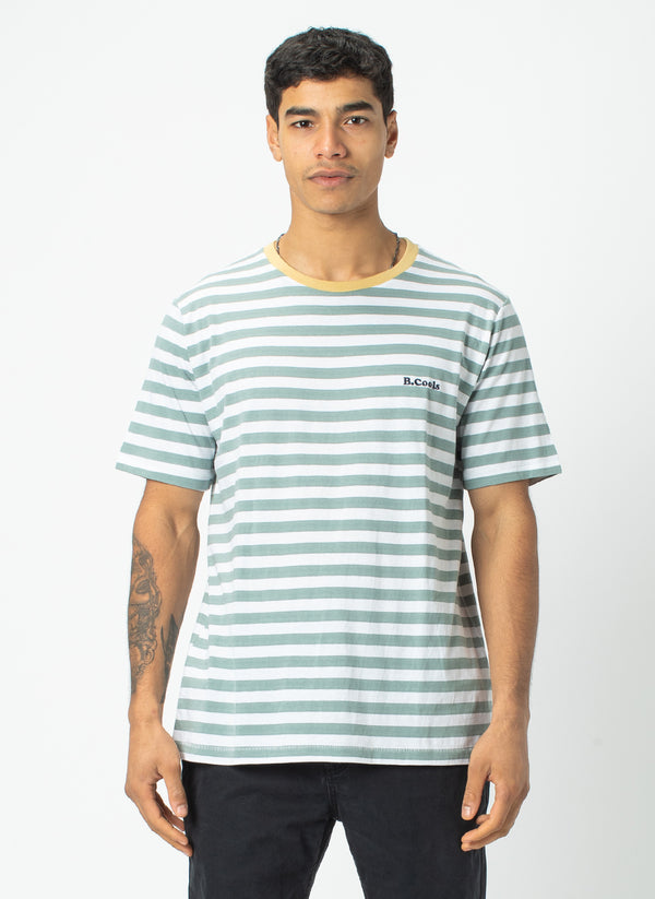 B.Cools Retro Tee Teal Stripe - Sale
