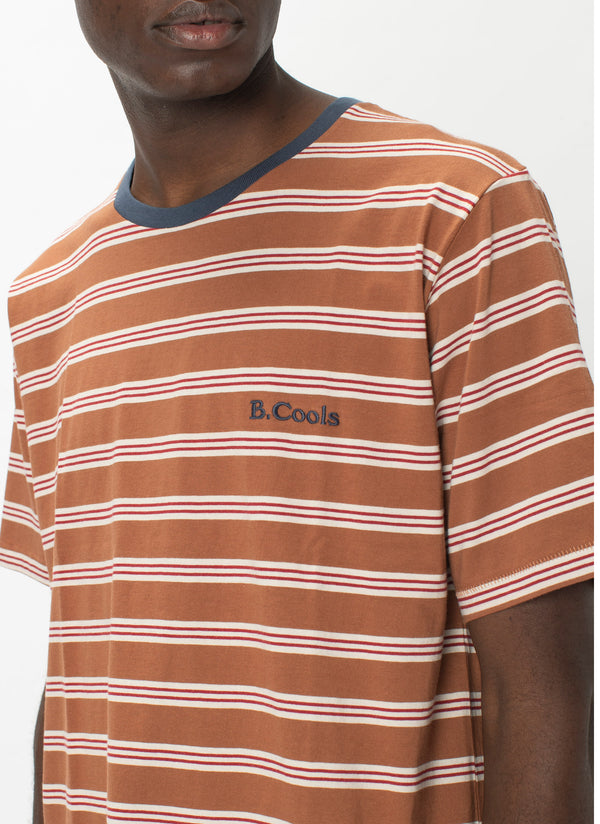 B.Cools Embro Tee Clay Stripe