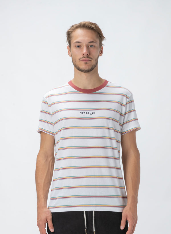 Not Cools Tee White Stripe - Sale