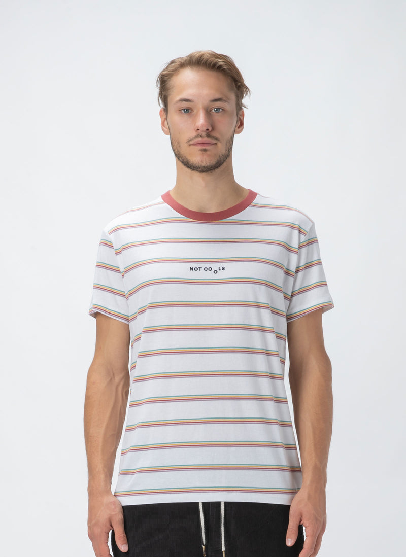 Not Cools Tee White Stripe