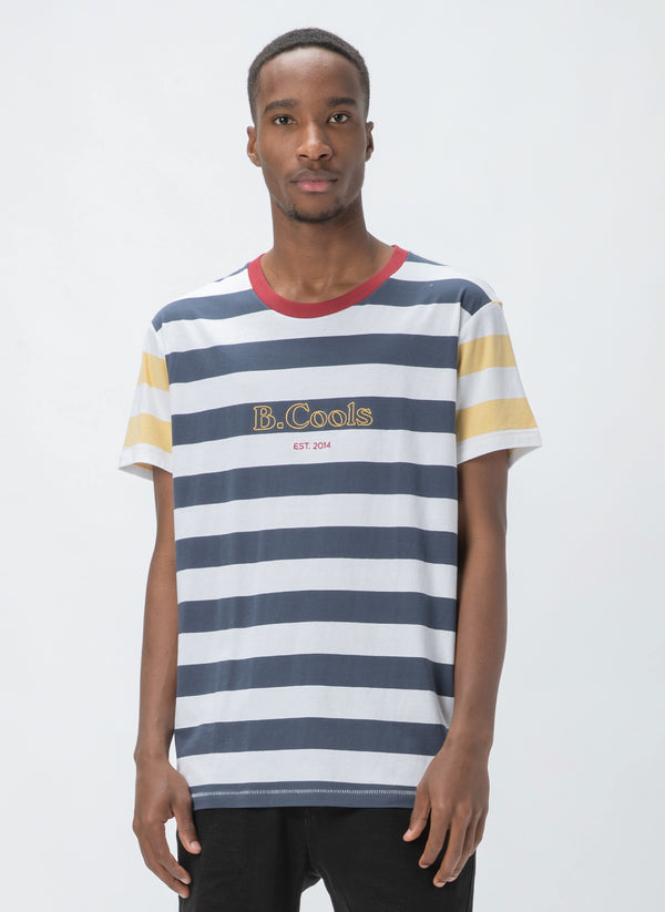 B.Cools Heritage Tee Navy Stripe - Sale