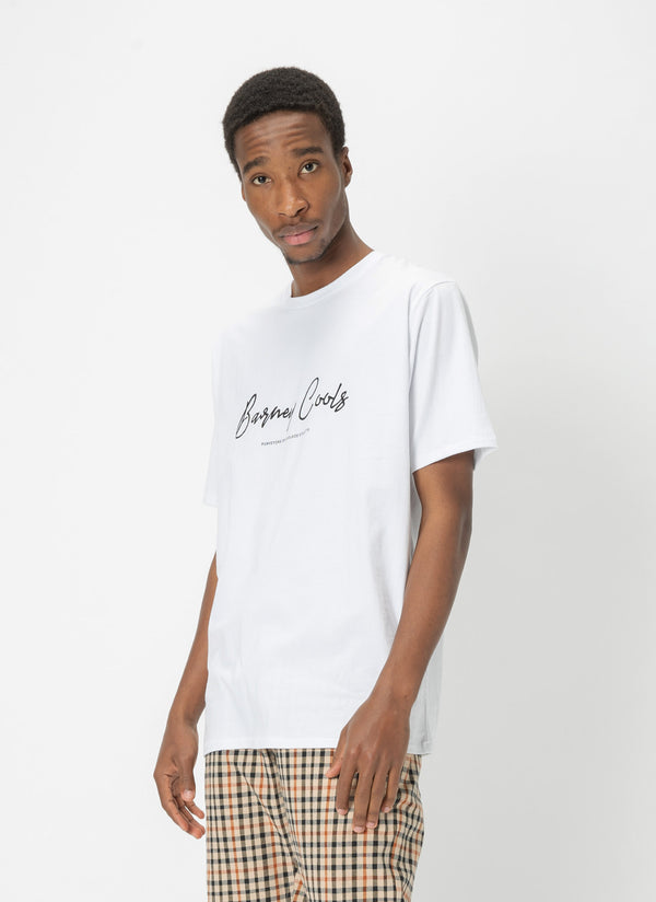Barney Cools Script Tee White