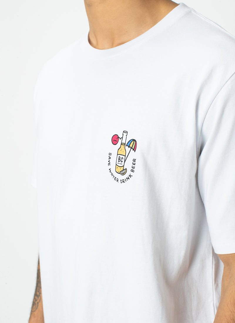 Drink Beer Tee White