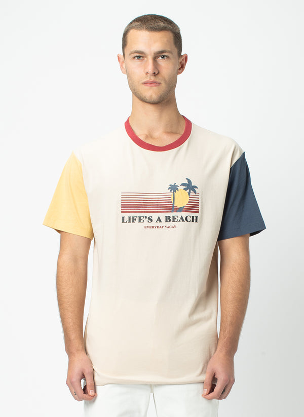 Beach Homie Tee Colour Block - Sale