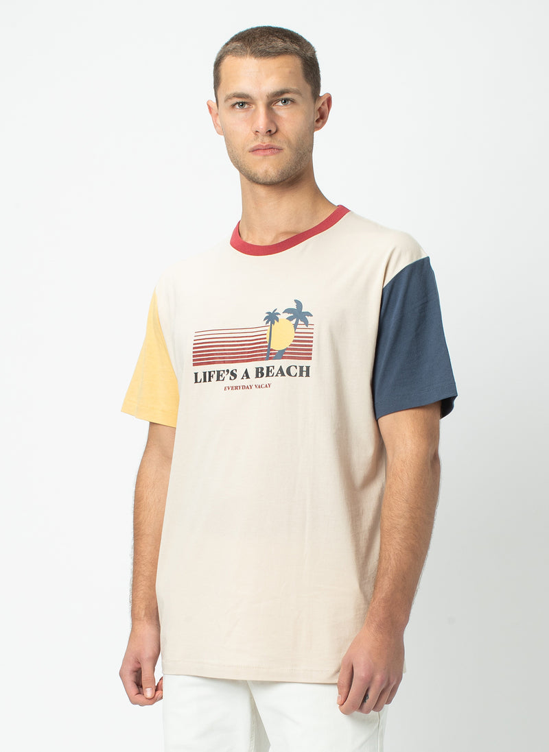 Beach Homie Tee Colour Block