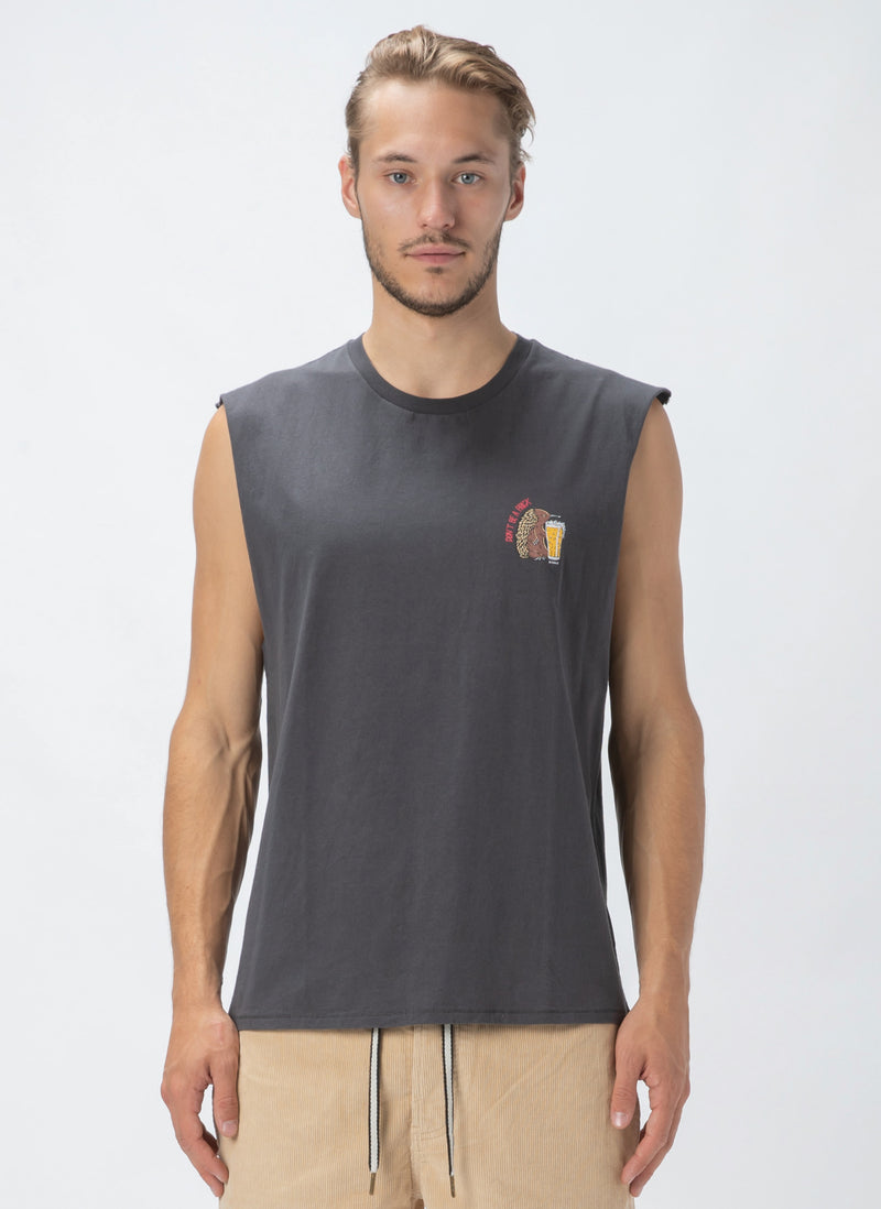 Echidna Muscle Tee Pigment Black