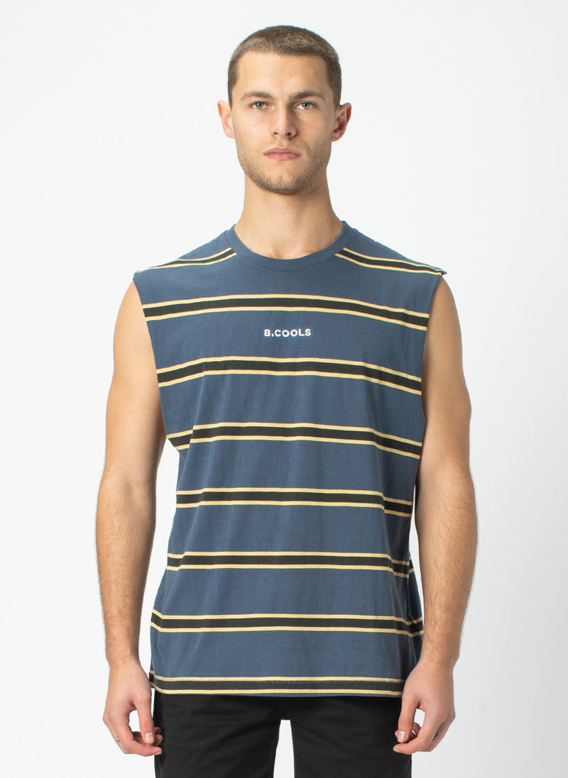 B.Cools Muscle Tee Navy Stripe - Sale