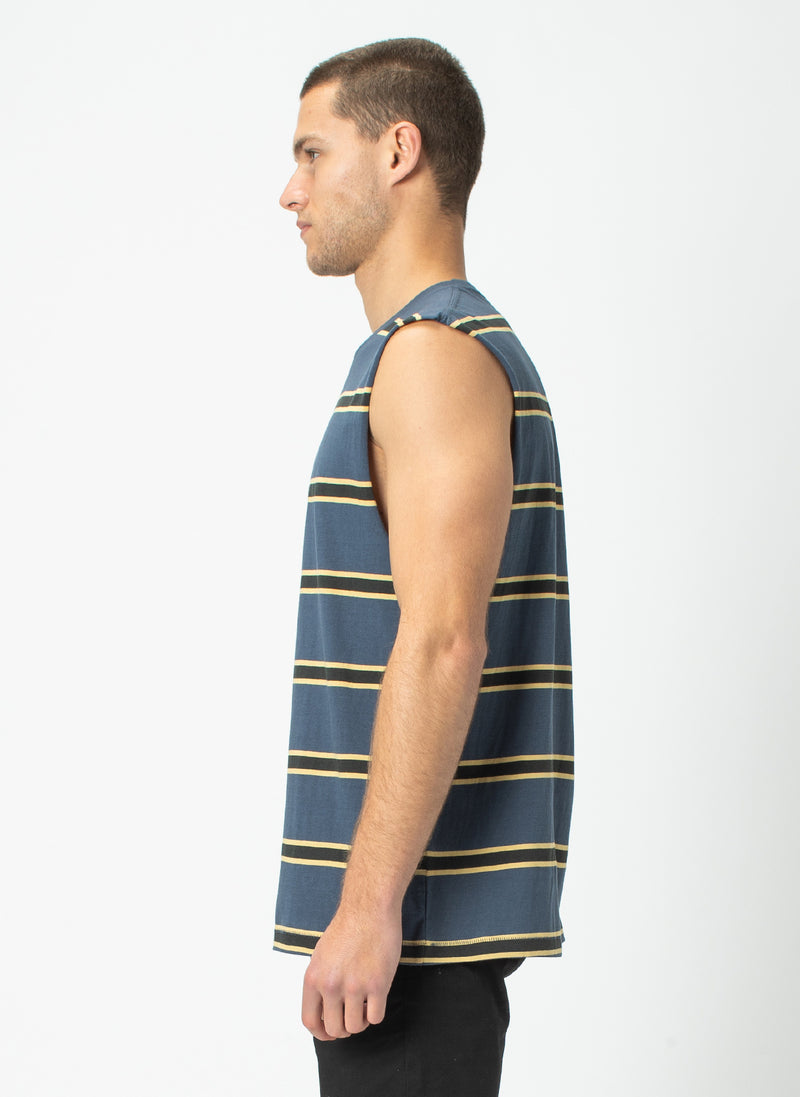 B.Cools Muscle Tee Navy Stripe
