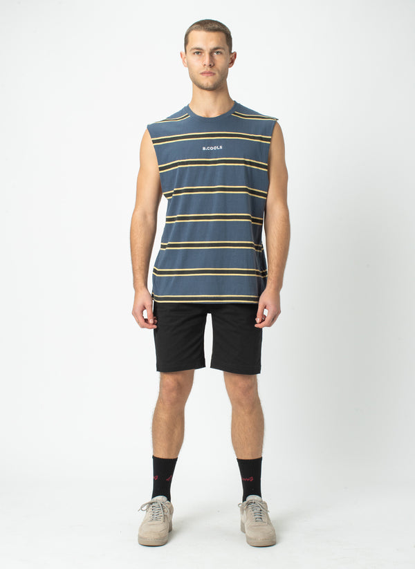 B.Cools Muscle Tee Navy Stripe - VIP