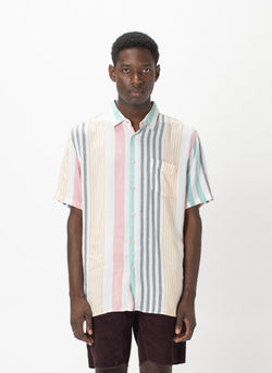 Holiday Short-Sleeve Shirt Candy Stripe